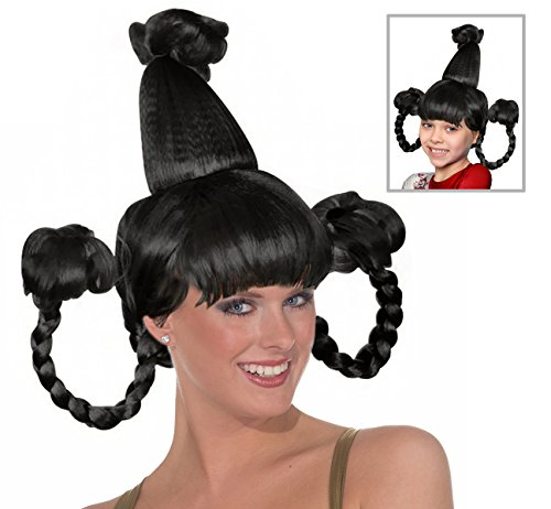 (Black Who Girl Costume Wig With Wire)