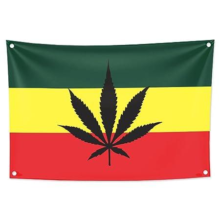KINO Homie Jamaica Reggae estilo marihuana hoja tapiz decorativo ...