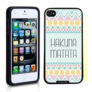 iPhone 5 5S Case ThinShell TPU Case Protective iPhone 5 5S Case Shawnex Hakuna Matata Pale Aztec Pattern Designed by HnW Accessories