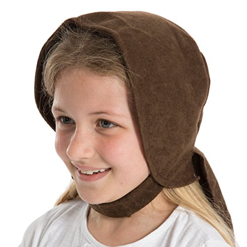 Charlie Crow Dark Brown Historical Bonnet for Kids one Size fits All. ()
