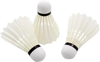 Lot de 12 Blanc volants de badminton haute qualité pour usage intérieur ou extérieur générique