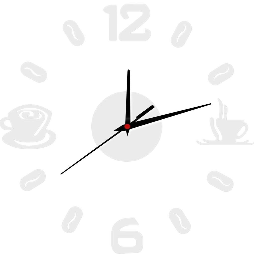 MuLuo Diy 3D Acrylic Coffee Cup Mirrored Clock Sticker Wall Mirror Decals Removable Home Decoration Wallpaper