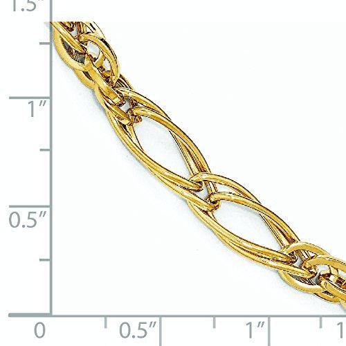 Or poli 14carats-Bracelet Femme-20cm