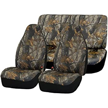amazon com high back camo truck seat cover integrated seatbelt for