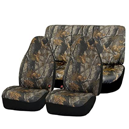 FH GROUP FB111112 Hunting Camouflage Car Seat Covers Airbag Compatible And Split Bench