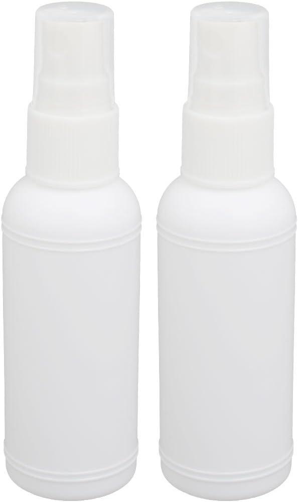 sourcing map Botella Cilíndrica De Plástico De Espray De Arte DIY De Material Pe De 50Ml Para Agua Bebidas Jugos