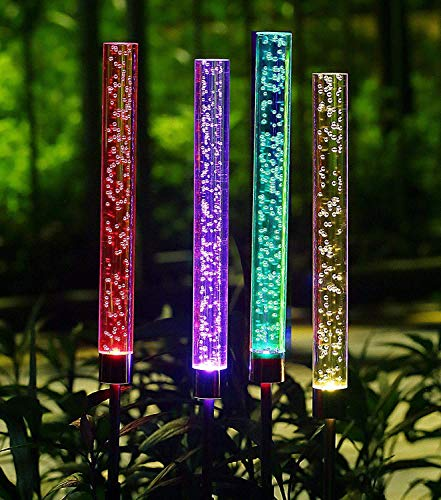 TEALP Moonsofter 4pcs Garden Solar Lights Outdoor ()