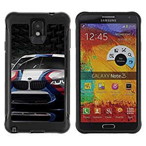 iKiki Tech / Estuche rígido - Racing Car Sport Scar Carbon Fiber Wheels - Samsung Note 3