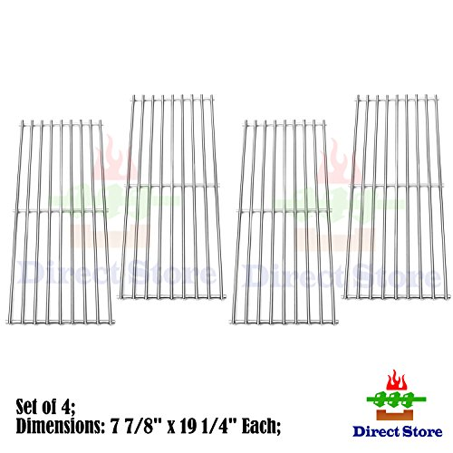 Direct store Parts Kit DS111 (4-pack) Solid Stainless Steel Cooking grids Replacement Turbo ,Perfect Flame, Perfect Flame Gas Grill (4) by Direct store