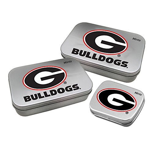 Worthy Promotional NCAA Georgia Bulldogs Decorative Mint Tin 3-Pack with Sugar-Free Mini Peppermint (Bulldog Keepsake)
