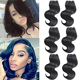 8″ Brazilian Body Wave Human Hair 6 Bundles Weave Hair Human Bundles Brazilian Virgin Hair For Women