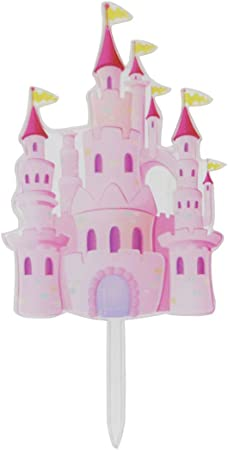 Swell Amazon Com Awyjcas Silver Transparent Castle Cake Topper Boy And Funny Birthday Cards Online Barepcheapnameinfo
