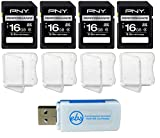 PNY 16GB Performance SD Memory Card (4 Pack) Class