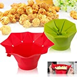 Amazing Microwave Safe Magic Popcorn Maker Foldable Popcorn Bowl Bucket DIY Kitchen Bakingware