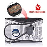 "HailiCare Lumbar Support Belt with Heat, Decompression Back Belt for Back Brace, Back Pain Relief, Lower Lumbar Support, ONE Size (Waist 29""-49"")"
