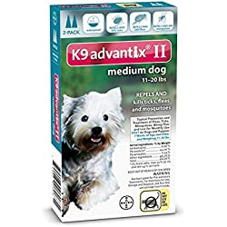 Advantix II for Medium Dogs 11-20 lbs Flea and Tick 2 Month