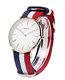 SKMEI Super thin waterproof quartz watch for men Classic Business Sports Casual Quartz Nylon Wrist Watch