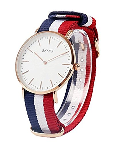 Price comparison product image SKMEI Super thin waterproof quartz watch for men Classic Business Sports Casual Quartz Nylon Wrist Watch