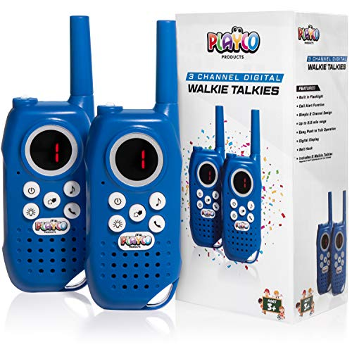 Playco Walkie Talkies for Kids - Keep it Simple with Our Easy to Learn 3 Channel Design - Over'n Out