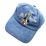 ZHANGNA Love Basketball 3D Embroidered Baseball Cap Adjustable Dad Hat Snapback Cowboy Blue