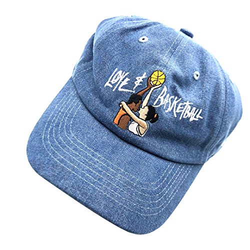 - ZHANGNA Love Basketball 3D Embroidered Baseball Cap Adjustable Dad Hat Snapback Cowboy Blue