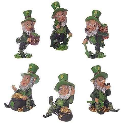 Set Of Four Lucky Irish Leprechaun Figures 9   11cm Home / Garden Statue  Ornament By