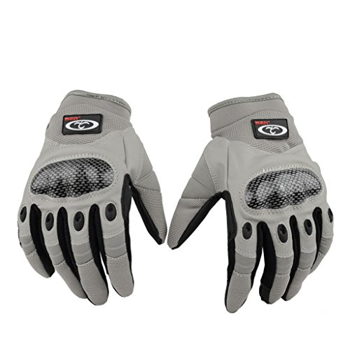 OUMILY Fashionable Reinforced Full-Finger Tactical Gloves For Outdoor Sports Airsoft Hunting Riding Cycling Black Grey M L XL