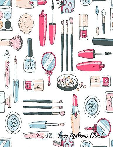 Face Makeup Chart: Eye Make Up Chart Large Notebook pdf epub