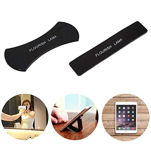 Fixate Gel Pads Flourish Lama Sticky Gel Pad Nano Rubber Powerful Strong Amazing Anti-Slip Sticker for Mobile Phone Holder Washable Reusable Sailor Sticker (Black)