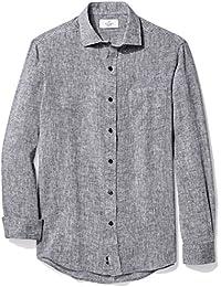 Amazon Brand - BUTTONED DOWN Men's Classic Fit Casual Linen Cotton Shirt