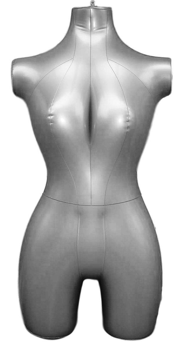 Inflatable Female Half Body Mannequin Torso Dress Form Dummy Model Display