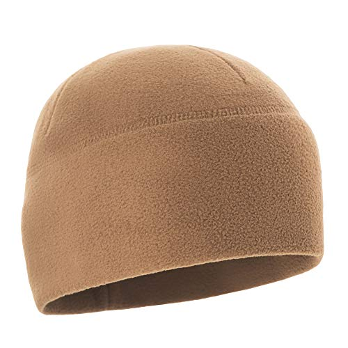 M-Tac Watch Cap Fleece 260 Mens Winter Hat Military Tactical Skull Beanie (Large, Coyote Brown)