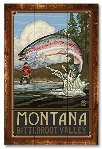 Montana Bitterroot Valley Rustic Wood Art Print by Paul A. Lanquist (12