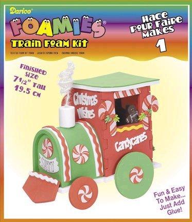 Foamies 3-D Christmas Train Foam - Foamies Glue Craft