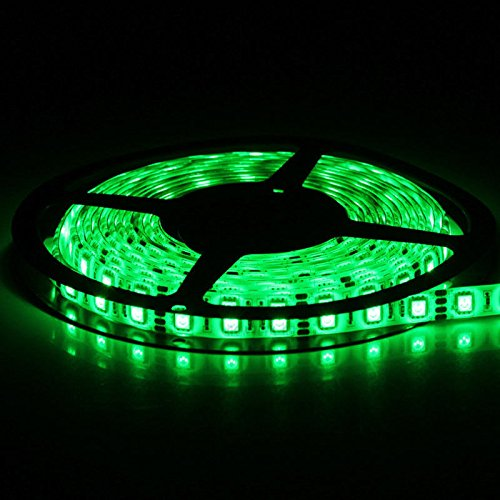 SUPERNIGHT (TM) SMD 5050 Green 16.4ft 5M Waterproof Led Flexible Flash Ribbon 300 Leds LED Light Strip 60Leds/M Multifunctional