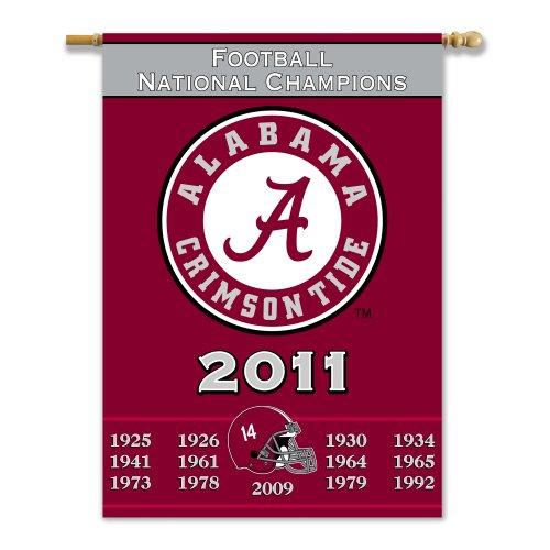 (NCAA Alabama Crimson Tide 2011 BCS National Champions Champ Years 2-Sided 28x40 Banner )