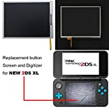 Button Screen and Digitizer for New 2DS XL, YTTL Replacement Parts Accessories Lower Screen LCD Display and Touch Screen for New Nintendo 2DS XL/LL System Games Console