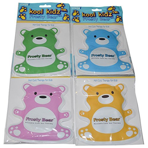 Kool Kidz Frosty Bear Hot and/or Cold Pad Cryopak Ice Pack for Kids - 4 Pack