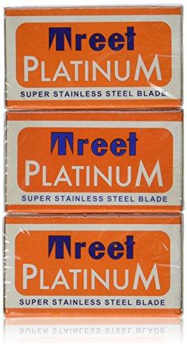 Treet Platinum Super Stainless Double Edge Razor Blade- 30 Ct