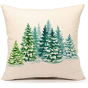 4TH Emotion Christmas Tree Throw Pillow Cover Cushion Case for Sofa Couch 18