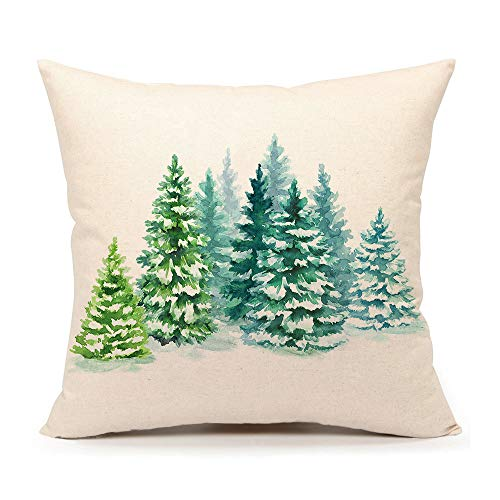 - 4TH Emotion Christmas Tree Throw Pillow Cover Cushion Case for Sofa Couch 18