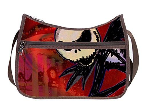 Female Women Hobo Shoulder Bags Cross-Body Handbag With Jack Skellington (Jack Skellington Purses)