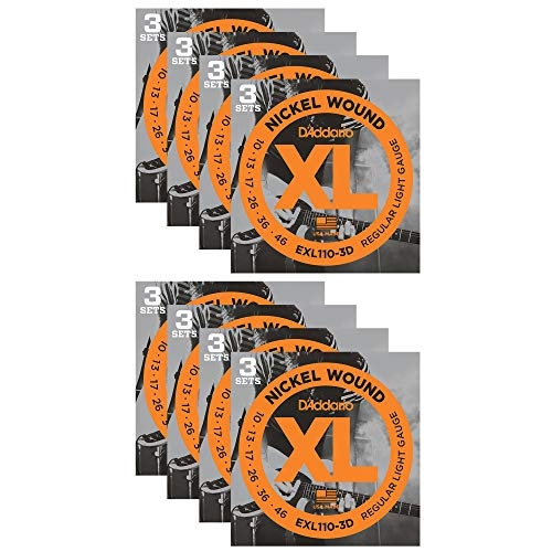 D'Addario EXL110 Electric 10-46 24-Pack Bundle