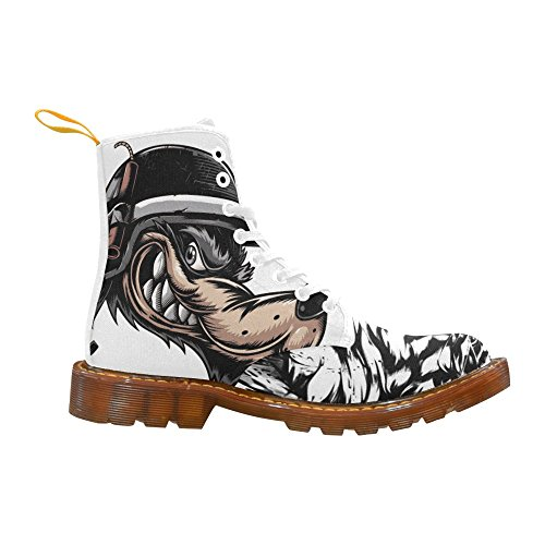 InterestPrint dragon Print Lace Up Boots Fashion Shoes For Men Tiger and Wolf xPi9t33