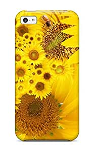 Everett L. Carrasquillo's Shop Hard Plastic Iphone 5c Case Back Cover,hot Yellow Sunflowers Case At Perfect Diy 1437660K87002794