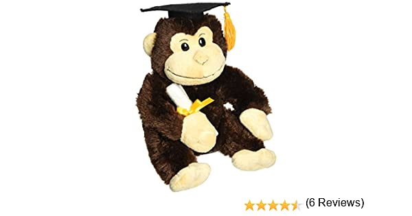 Applause Graduation Monkey with Cap and Diploma