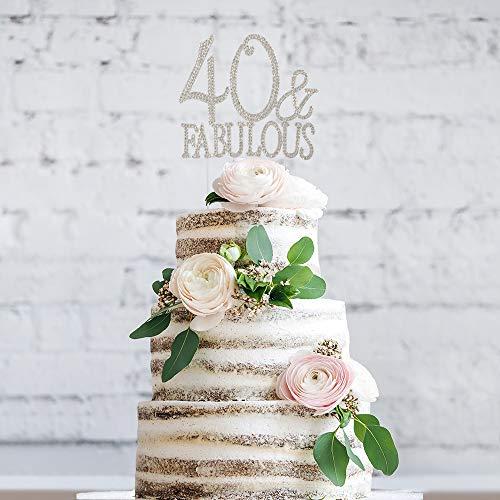 b0a54700e3f3 Jual 40 and Fabulous Rhinestone Cake Topper