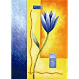 Canvas Prints Of Oil Painting ' Blue Flower ' , 24 x 34 inch / 61 x 85 cm , High Quality Polyster Canvas Is For Gifts And Basement, Bath Room And Study Room Decoration, giant