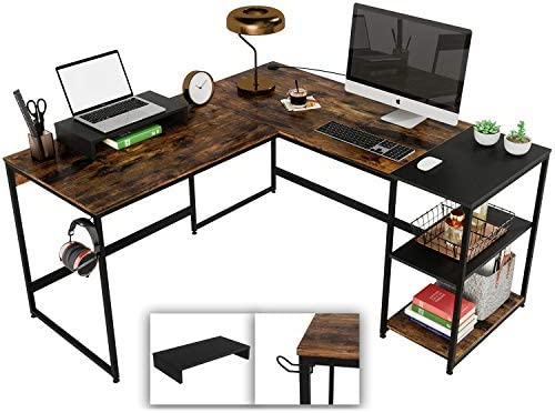 Bestier 59'' L-Shaped Corner Computer Desk