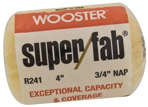 Wooster Brush R241-4 Super/Fab Roller Cover, 3/4-Inch Nap, 4-Inch